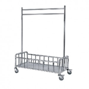 Linen Hanging Trolley c/w Bottom Basket Compartment