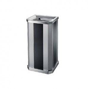 Stainless Steel + Print Coating Diamond Shape (Open Top) Bin