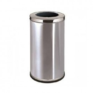 Stainless Steel Round Waste Bin (Open Top)