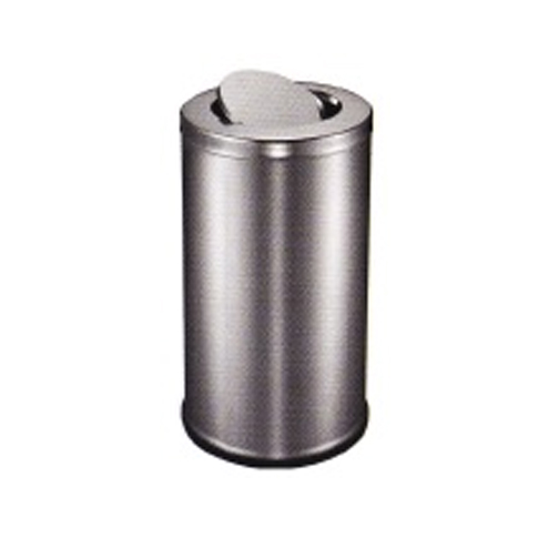Stainless Steel Round Waste Bin (Flip Top)