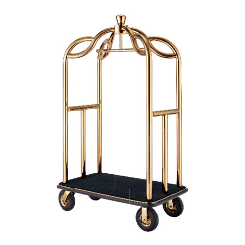 Crown Birdcage Cart (Gold Plated)