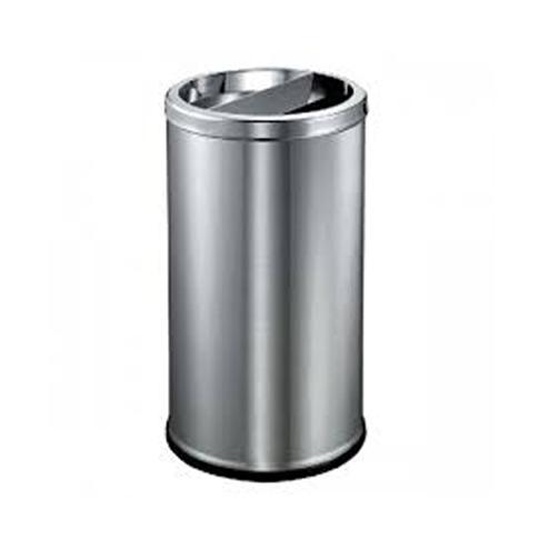 Stainless Steel Round Bin c/w 1/2 Open Top