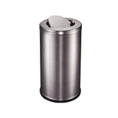 Stainless Steel Round Waste Bin (Flip Top)